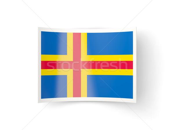 Bent icon with flag of aland islands Stock photo © MikhailMishchenko