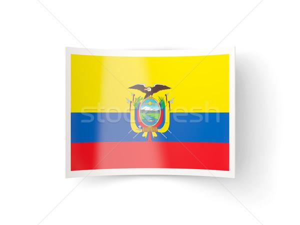 Bent icon with flag of ecuador Stock photo © MikhailMishchenko