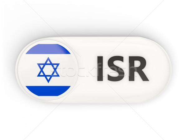 Ikona banderą Izrael iso kodu kraju Zdjęcia stock © MikhailMishchenko