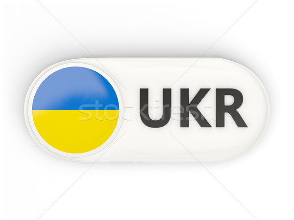 Round icon with flag of ukraine Stock photo © MikhailMishchenko