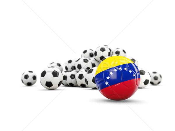 Futball zászló izolált fehér 3d illusztráció Stock fotó © MikhailMishchenko