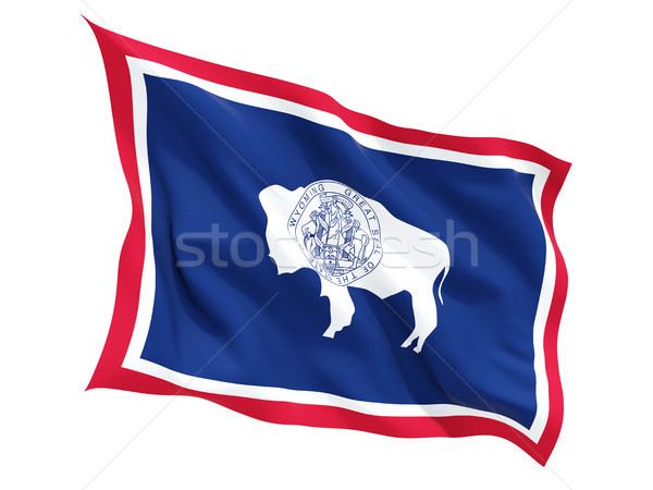 Flag of wyoming, US state fluttering flag Stock photo © MikhailMishchenko