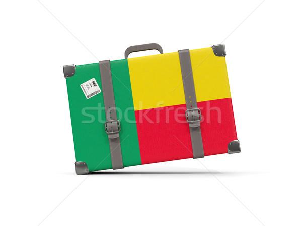 Камера флаг Бенин чемодан изолированный белый Сток-фото © MikhailMishchenko