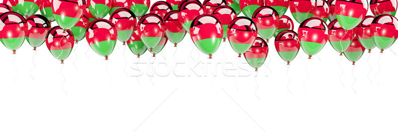 Balloons frame with flag of malawi Stock photo © MikhailMishchenko