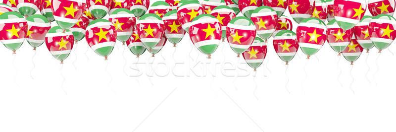 шаров кадр флаг Суринам изолированный белый Сток-фото © MikhailMishchenko
