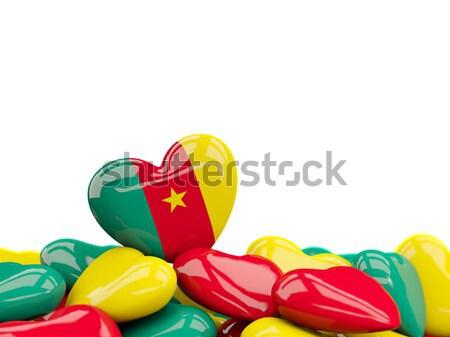 Hart vlag Grenada top harten geïsoleerd Stockfoto © MikhailMishchenko