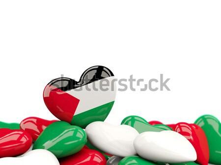 Heart with flag of maldives Stock photo © MikhailMishchenko