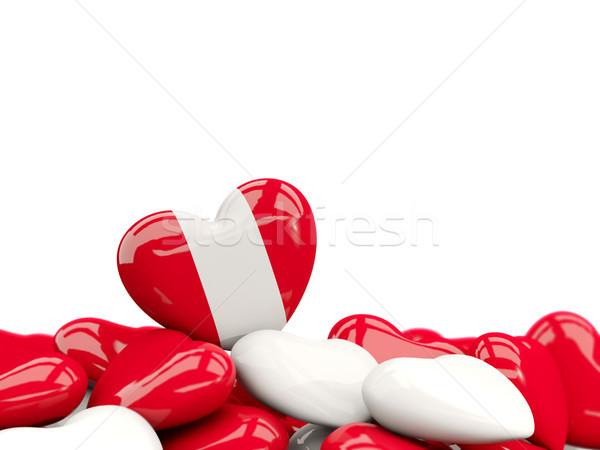Heart with flag of peru Stock photo © MikhailMishchenko
