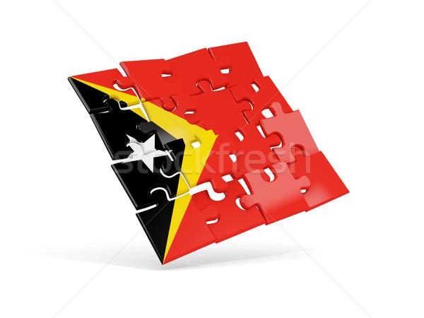 Puzzle flag of east timor isolated on white Stock photo © MikhailMishchenko