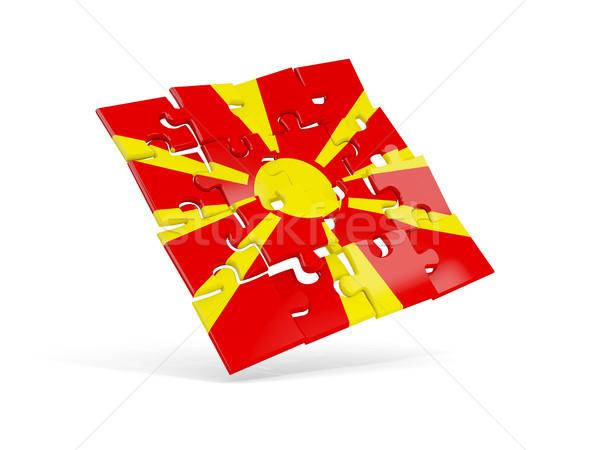 Rompecabezas bandera Macedonia aislado blanco 3d Foto stock © MikhailMishchenko