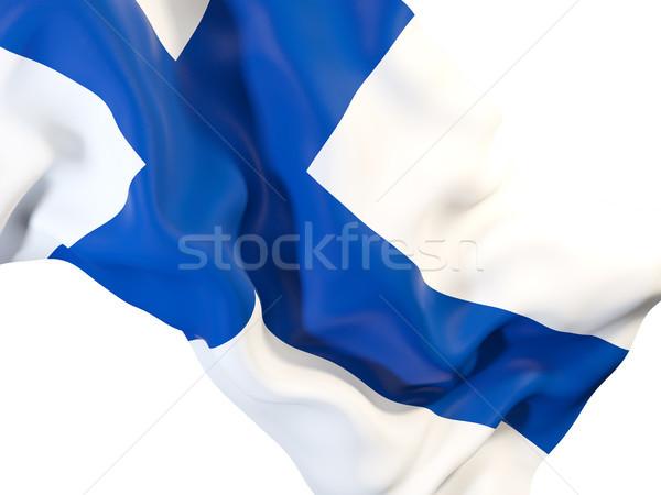 Vlag Finland 3d illustration reizen Stockfoto © MikhailMishchenko