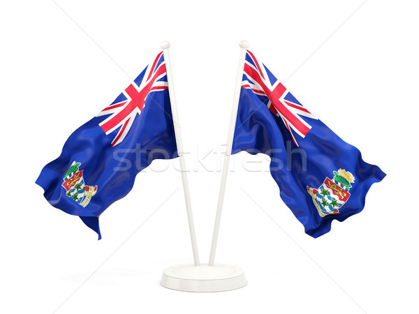 Two waving flags of cayman islands Stock photo © MikhailMishchenko
