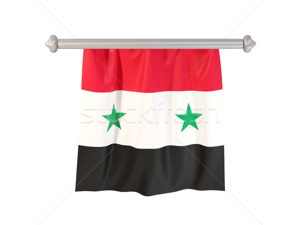 Pennant with flag of syria Stock photo © MikhailMishchenko