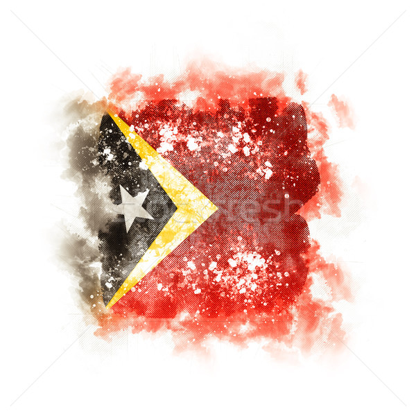 Square grunge flag of east timor Stock photo © MikhailMishchenko