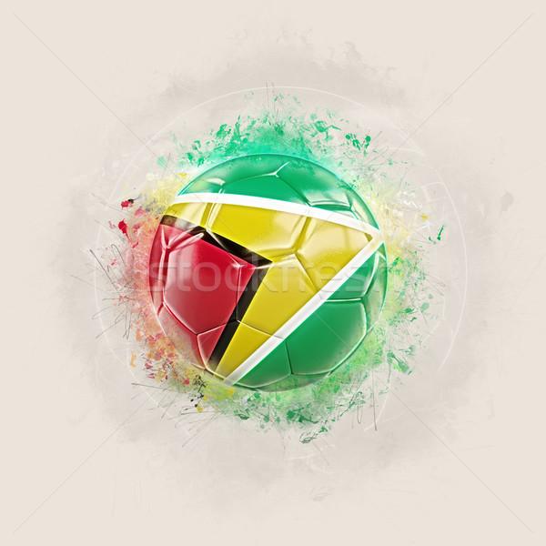 Grunge futball zászló Guyana 3d illusztráció világ Stock fotó © MikhailMishchenko