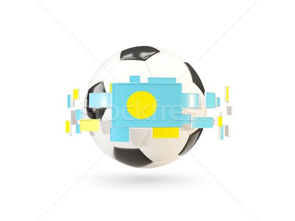 サッカーボール 行 フラグ フラグ パラオ ストックフォト © MikhailMishchenko