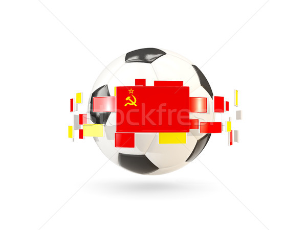 Soccer ball with line of flags. Flag of ussr Stock photo © MikhailMishchenko