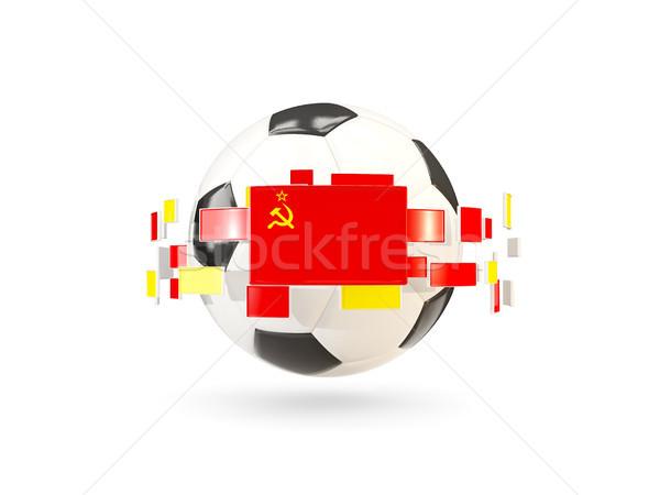 Futbol topu hat bayraklar bayrak sscb Stok fotoğraf © MikhailMishchenko