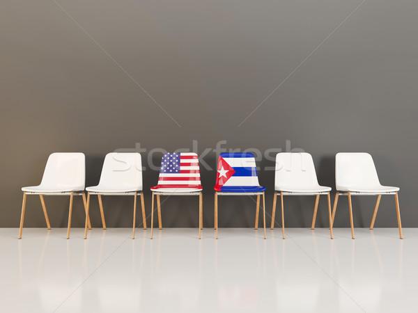 チェア フラグ 米国 キューバ 3次元の図 ストックフォト © MikhailMishchenko