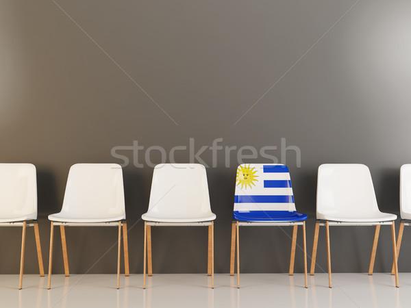 椅子 フラグ ウルグアイ 白 チェア ストックフォト © MikhailMishchenko