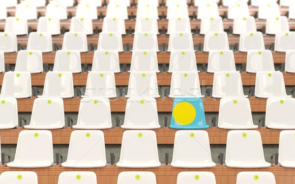 スタジアム 座席 フラグ パラオ 白 ストックフォト © MikhailMishchenko