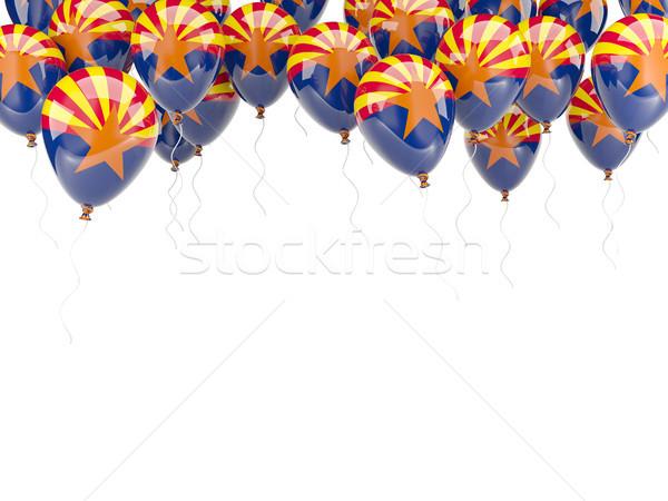 Ballonnen frame vlag Arizona Verenigde Staten lokaal Stockfoto © MikhailMishchenko