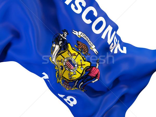Stok fotoğraf: Wisconsin · bayrak · Amerika · Birleşik · Devletleri · yerel · bayraklar