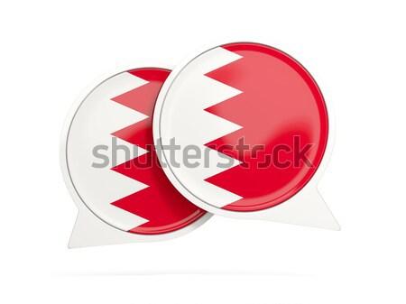 3D bandeira Bahrein isolado branco onda Foto stock © MikhailMishchenko