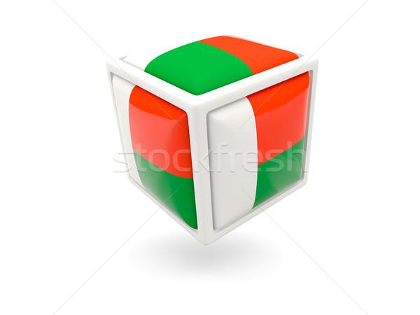 Flag of madagascar. Cube icon Stock photo © MikhailMishchenko
