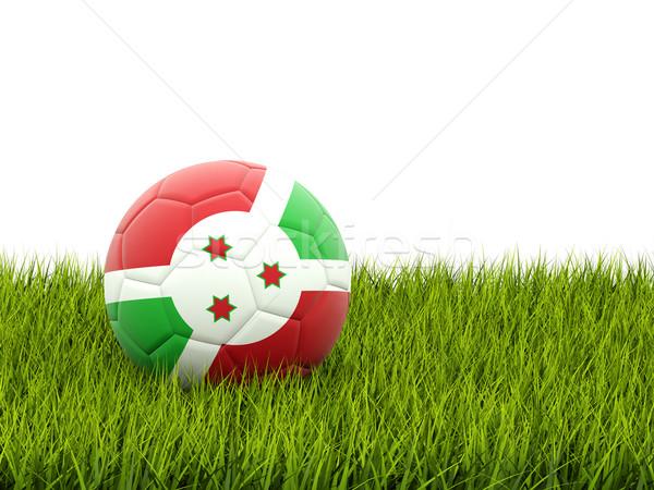 Futebol bandeira Burundi grama verde futebol campo Foto stock © MikhailMishchenko