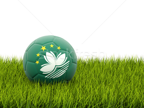 Football with flag of macao Stock photo © MikhailMishchenko