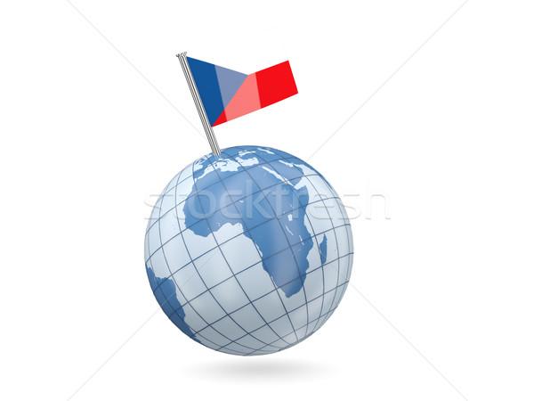 Stok fotoğraf: Dünya · bayrak · Çek · Cumhuriyeti · mavi · yalıtılmış · beyaz