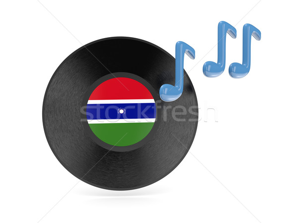 Vinyl disk with flag of gambia Stock photo © MikhailMishchenko