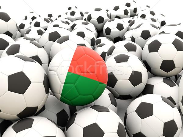 Voetbal vlag Madagascar regelmatig zomer Stockfoto © MikhailMishchenko