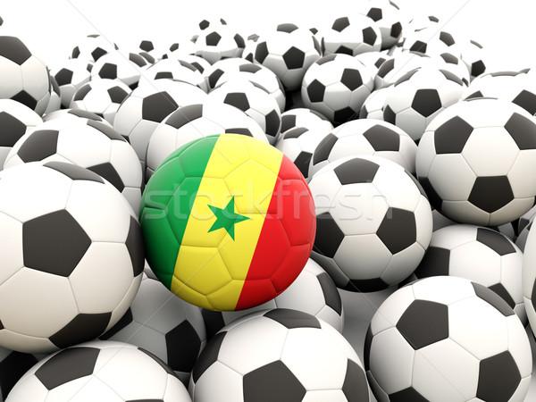 Voetbal vlag Senegal regelmatig zomer Stockfoto © MikhailMishchenko