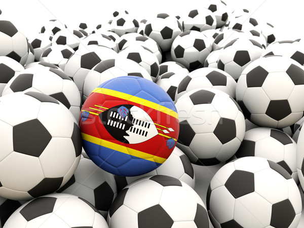 Football with flag of swaziland Stock photo © MikhailMishchenko