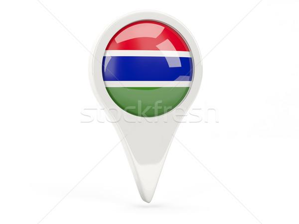 Round flag icon of gambia Stock photo © MikhailMishchenko