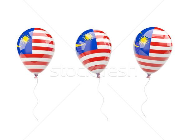 Ar balões bandeira Malásia isolado branco Foto stock © MikhailMishchenko