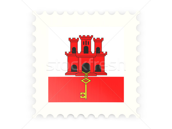 Postage stamp icon of gibraltar Stock photo © MikhailMishchenko