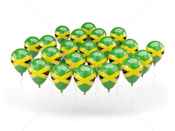 Balloons with flag of jamaica Stock photo © MikhailMishchenko