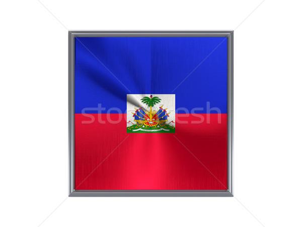 広場 金属 ボタン フラグ ハイチ 孤立した ストックフォト © MikhailMishchenko