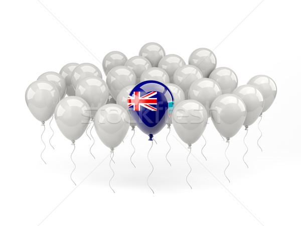 Air balloons with flag of montserrat Stock photo © MikhailMishchenko