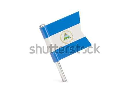 Zászló tő Nicaragua izolált fehér Stock fotó © MikhailMishchenko