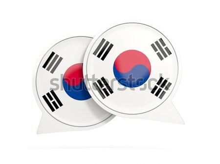 Round sticker with flag of south korea Stock photo © MikhailMishchenko