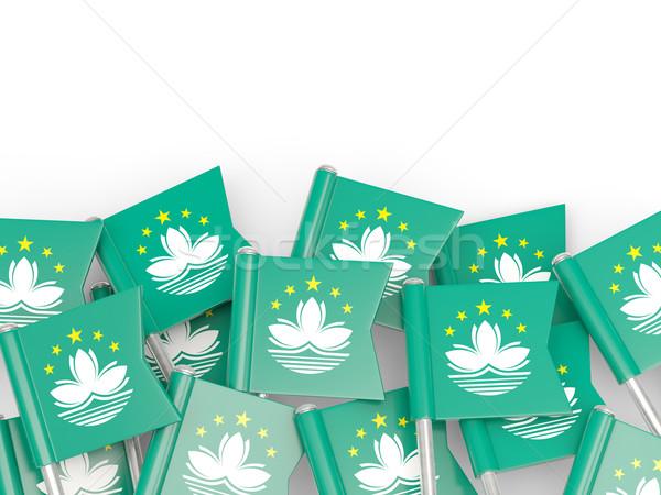 Flag pin of macao Stock photo © MikhailMishchenko