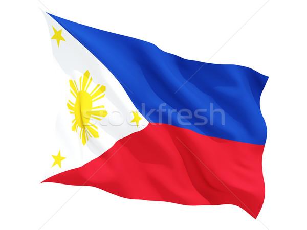 Banderą Filipiny odizolowany biały Zdjęcia stock © MikhailMishchenko
