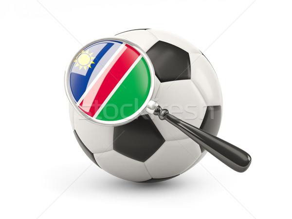 Piłka nożna banderą Namibia odizolowany biały Zdjęcia stock © MikhailMishchenko