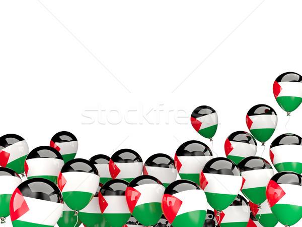 Flying balloons with flag of palestinian territory Stock photo © MikhailMishchenko