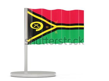 Tér címke zászló Guyana izolált fehér Stock fotó © MikhailMishchenko
