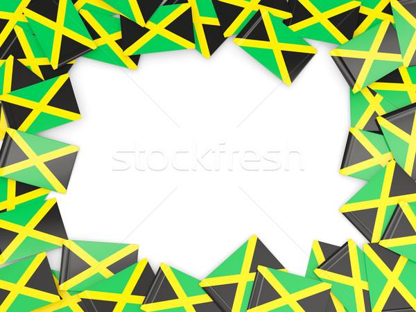 Frame with flag of jamaica Stock photo © MikhailMishchenko